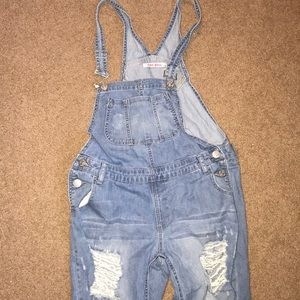 Size 6 Ankle Cut Hot KISS Overalls